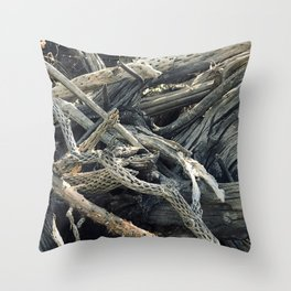 Driftwood In Bucolic Repose Throw Pillow