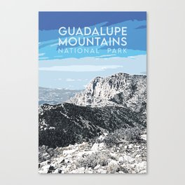 Guadalupe Mountains - National Parks Print Canvas Print