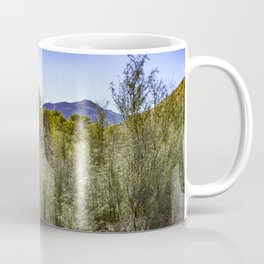 Fresh Green Plants Growing Near Underground Water by the Mountains in the Anza Borrego Desert Coffee Mug