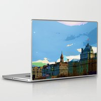 montreal Laptop & iPad Skins featuring Old Montreal by LEEMARIE