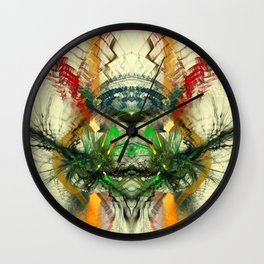 Chaos Waves Wall Clock