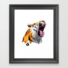 TML polygon tiger ROAR!!! Framed Art Print