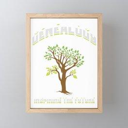 Genealogist Preserving The Family Tree Gift Framed Mini Art Print