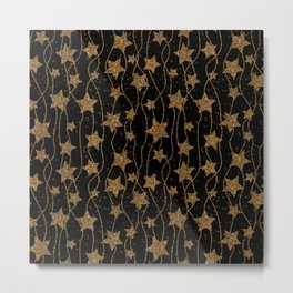 christmas print with christmas glitter stars Metal Print