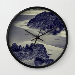 Rocks at Three Cliffs Bay Wall Clock