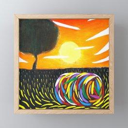 Prairie Landscape Framed Mini Art Print