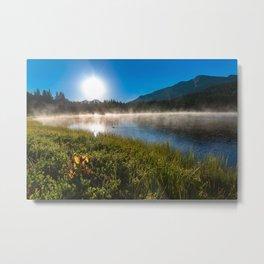 Morning Glory - Duck Swimming in Mountain Lake in Colorado Metal Print
