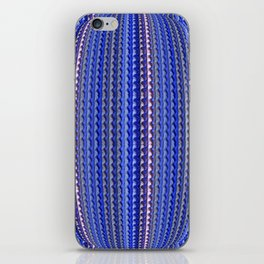 Mega Bright Indigo Lavender Blue Psychedelic Pattern iPhone Skin
