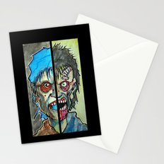 Two Half Zombie Stationery Cards