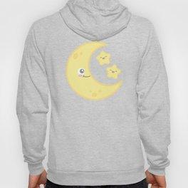 Kawaii Moon and Stars (Blue) Hoody