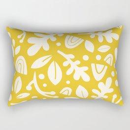 Arc Plants Golden Rectangular Pillow