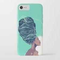 erykah badu iPhone & iPod Cases featuring Erykah Badu by Dushan Milic