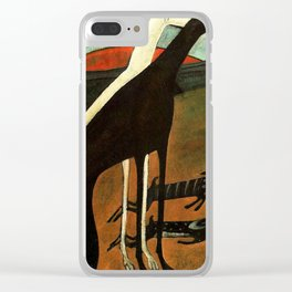 Os Galgos by Amadeo de Souza Cardoso - Portuguese Colorful Expressionism Clear iPhone Case