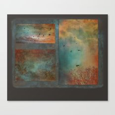 Landscape ~ Trees, Sky and Soaring Birds Canvas Print