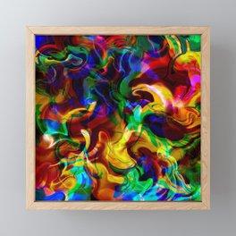 Colorful chaos Framed Mini Art Print