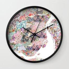Montreal map canada Wall Clock