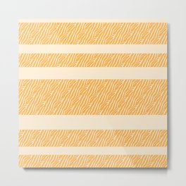 Marbled Pattern (sunglow yellow) Metal Print