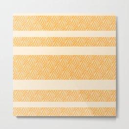 Marbled Pattern (sunglow yellow) Metal Print