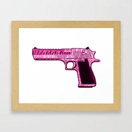 Pink Desert Eagle Modern Art Framed Art Print
