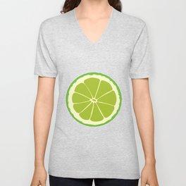 Lime Slice Unisex V-Neck