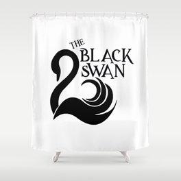 The Black Swan Shower Curtain