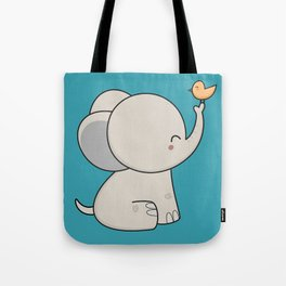 Kawaii Cute Elephant Tote Bag