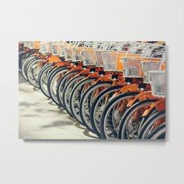 The Orange Bike Army Metal Print