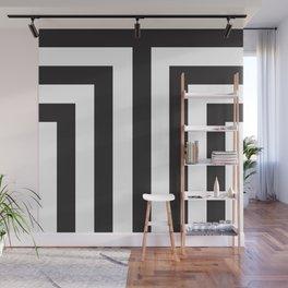 Black T Stripes Wall Mural