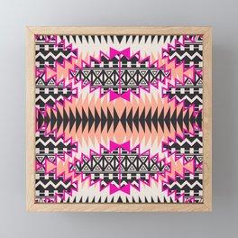 Tribal Beat Geo Magenta Framed Mini Art Print