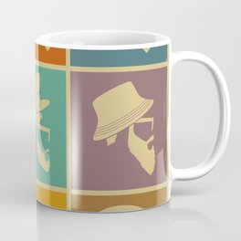 colorful Icons man in a headdress hat Coffee Mug