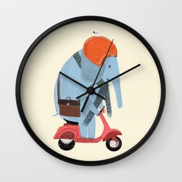 the elephant mobile Wall Clock