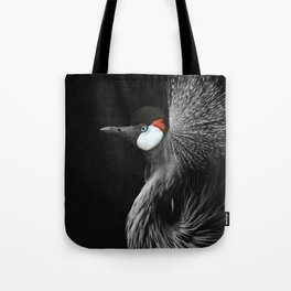CROWNED CRANE by Monika Strigel Tote Bag