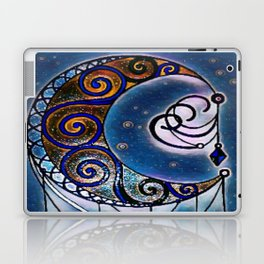Moon swirl dreamcatcher Laptop & iPad Skin