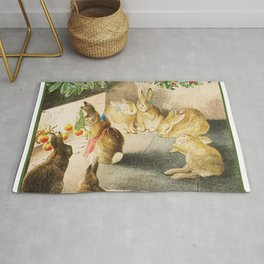 Beatrix Potter Christmas bunnies Rug