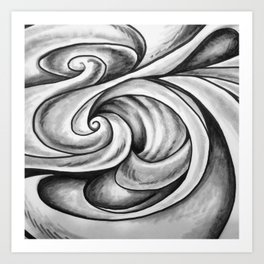 Swirl (Gray) Art Print