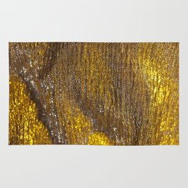 Gold Sparkly Abstract Design Rug