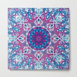 Pink, Blue, & Purple Kaleidoscope Metal Print