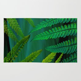 Forest Fern Green Rug