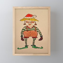 lady elf Framed Mini Art Print