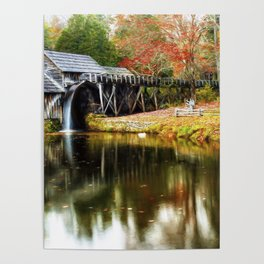 Mabry Mill Autumn Poster