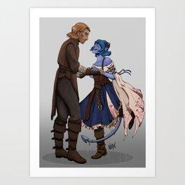 Dance with me, Caleb! Art Print