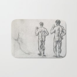 Standing Male Bather; Puget's Atlas Bath Mat