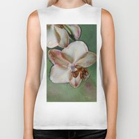 orchid Biker Tanks featuring Orchid by LoRo  Art & Pictures