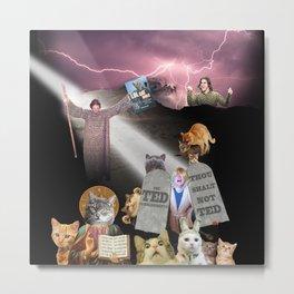 The Ted Commandments Metal Print