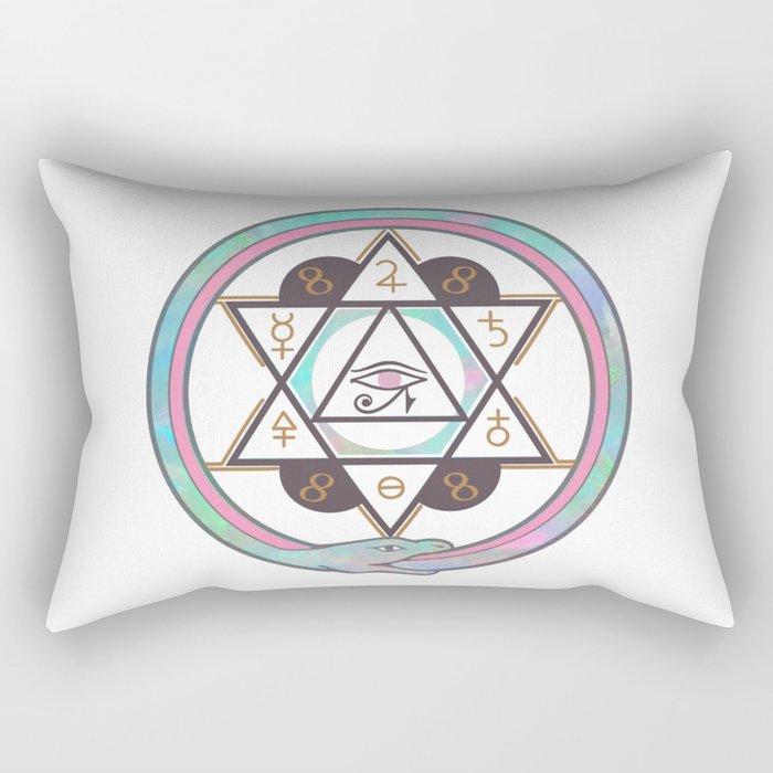 Archaic 3 Rectangular Pillow