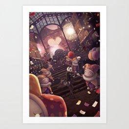Amusement Park Art Print