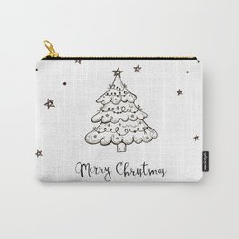 Snowing Christmas Tree Design. Carry-All Pouch