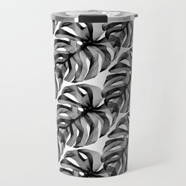 """""""Favorite Collection"""" - Abstract Lines Monstera Pattern Print Travel Mug"""
