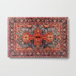 Kashan Poshti Central Persian Rug Print Metal Print