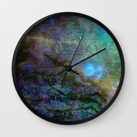 cosmic Wall Clocks featuring Cosmic by Jay Taylor